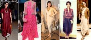 One Shoulder Draped Dresses Celebrities Stylish Amp Desi Look In Designer Kurtis Amp Tunic