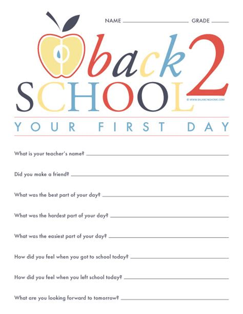 printable questionnaire school 27 awesome school printables balancing home with megan bray