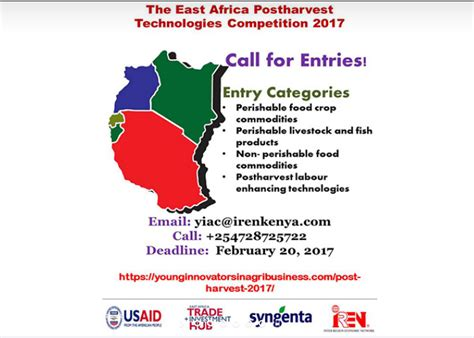 Usd Mba Application Deadline by East Africa Post Harvest Technologies Competition 2017