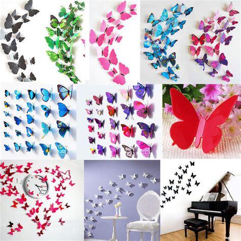home decor butterflies 3d pvc butterflies diy butterfly art decal home decor wall