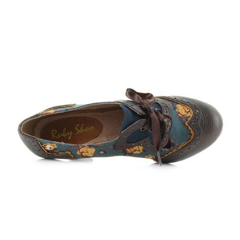 Shoo Olive womens ruby shoo olive lace up heeled shoe boots uk