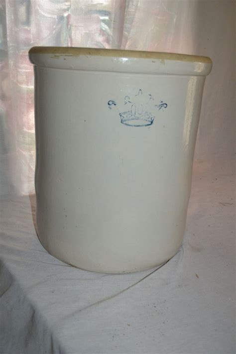 10 gallon ceramic crock large antique primitive crownware 10 gallon stoneware