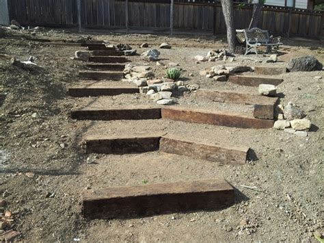Railroad Ties For Garden by Railroad Tie Steps Things I Railroad