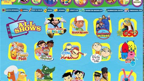 intercots webdisney guide to disney on the internet playhouse disney shows in april 4 2009 on the website