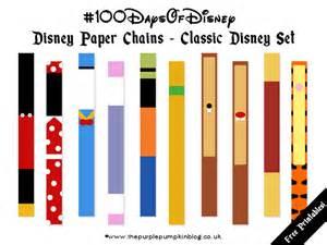 Disney paper chains 100daysofdisney 187 the purple pumpkin blog