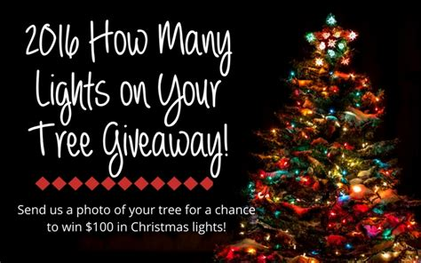 how many lights per of tree how many lights on your tree giveaway