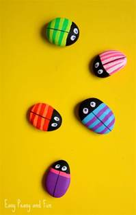 painted rock bugs easy peasy and fun