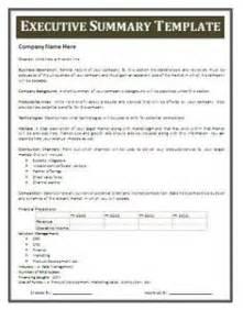 executive summary exle template 13 executive summary templates excel pdf formats