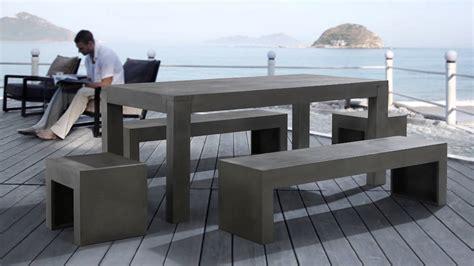 Beliani Garden Beton Furniture Set   Concrete   Table 2