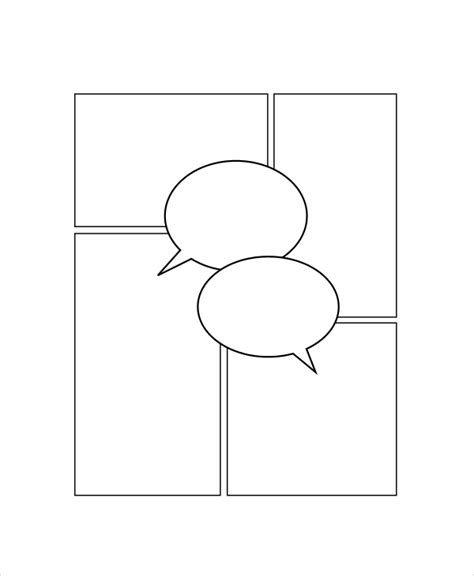Printable Blank Comic Template For by Comic Template 7 Free Pdf Psd Documents