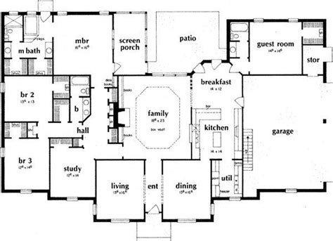 floor plans ranch style homes new 4 bedroom ranch style house plans new home plans design