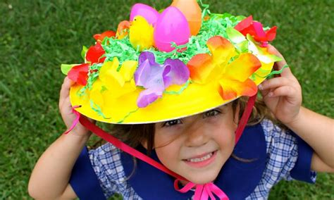 How To Make A Paper Easter Bonnet - 6 simple easter parade hats to make kidspot
