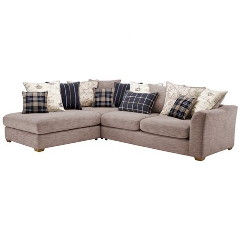 silver grey corner sofa florence right corner sofa with pillow back in silver