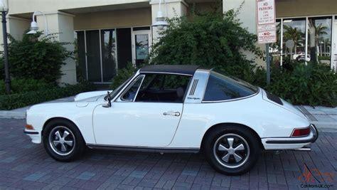 porsche targa white 1972 porsche 911 t targa white with black 2 4 litre
