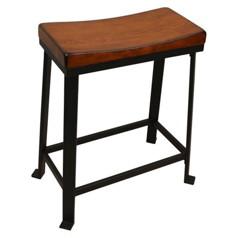Black Saddle Seat Counter Stool by Viola 24 Quot Saddle Seat Counter Stool Chestnut Black