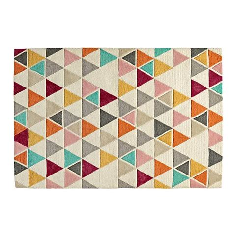 land of nod rugs totally triangular rug the land of nod