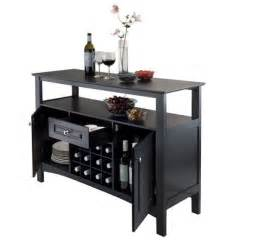 Kitchen Table With Wine Storage - wooden storage buffet table cabinet drawer 12 wine bottle rack dining sideboard ebay