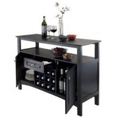 Wine Rack Buffet Table Wooden Storage Buffet Table Cabinet Drawer 12 Wine Bottle