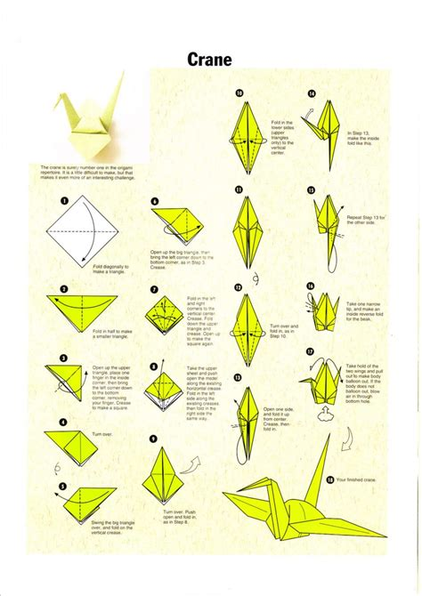 Crane Origami Directions - origami make origami bird steps how to make paper parrot