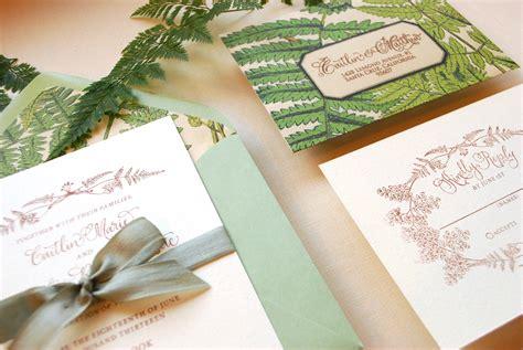 diy wedding cards tutorial on diy tutorial vintage fern wedding invitations