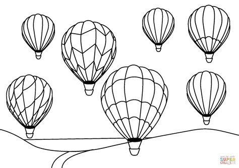 air balloon coloring page air balloons coloring page free printable coloring pages