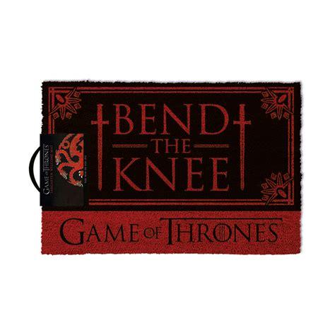 felpudo juego de tronos felpudo bend the knee juego de tronos