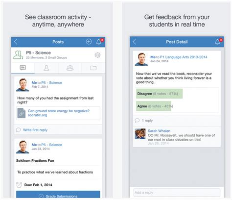 edmodo journal dossier applications iphone ipad outils pour enseignants