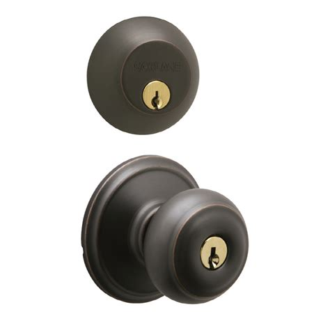 Door Knob With Deadbolt Built In by Shop Schlage Keyed Entry Door Knob At Lowes