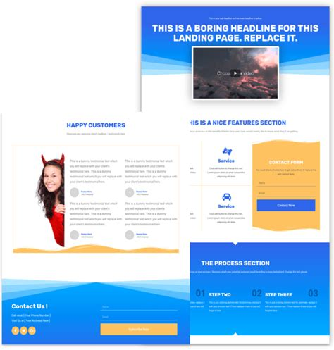 personal landing page template for elementor free web templates cakewp