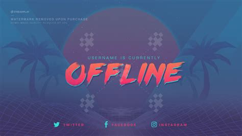 Twitch Offline Banners Custom And Template Twitch Offline Screens Twitch Offline Banner Template