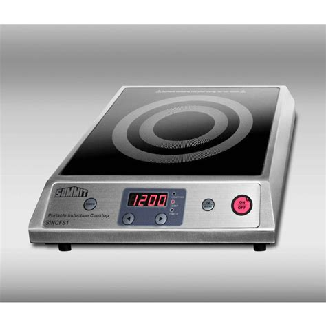 summit induction cooktop summit sincfs1 12 quot portable induction cooktop with 1800w