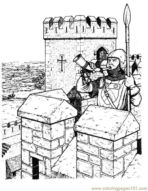 coloring pictures of knights and castles coloring pages castle knight coloring page 08 peoples