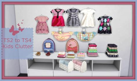 sims 4 cc clutter sims 4 ts2 to ts4 suza kids clutter dinha