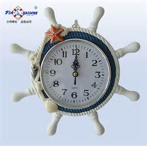 Steering Wheel Clock Sale Twiner Small Blue And White Rudder Steering Wheel Wall