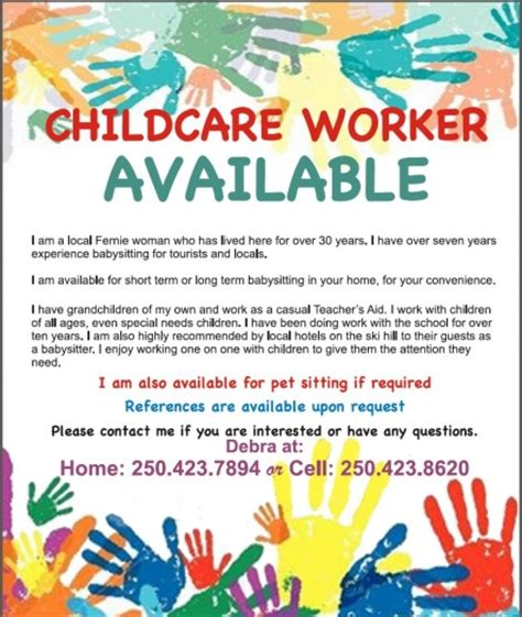 Child Care Worker   Fernie Ferniecom