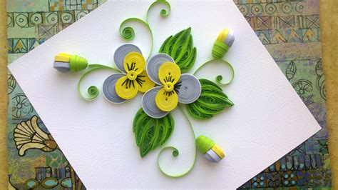 Diy Easy Home Decor Quilling Paper Flower Tutorial D I Y Quilling Paper