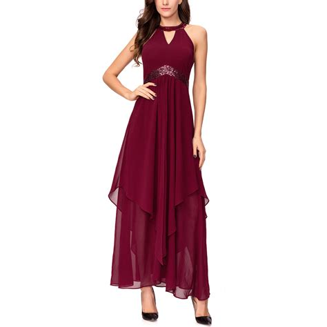Evening Dress Wedding by Chiffon Maxi Cocktail Evening Dress For