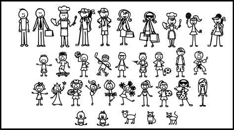 small stick figure on my stick figure family maker pictures to pin on