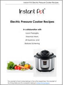 free electric pressure cooker recipe booklet