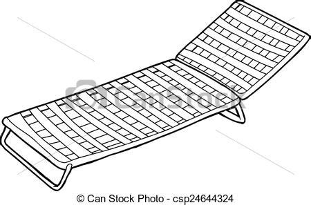 Recliner Armchair Vector Illustration Of Outline Of Deck Chair Outline