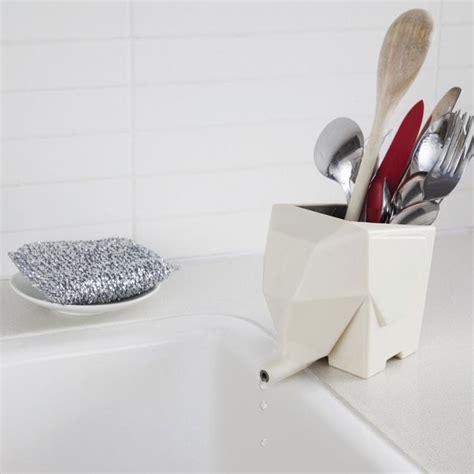 elephant silverware water drainer drying rack