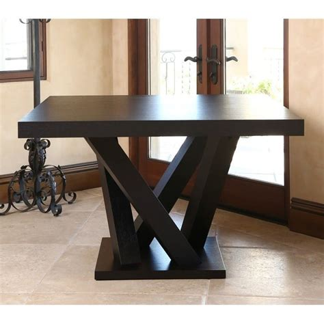 Abbyson Living Essex Wood Square Dining Table In Espresso Espresso Dining Table