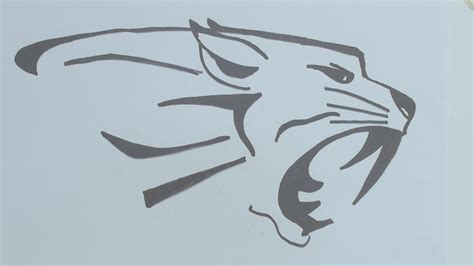 tattoo easy sketch simple tiger face drawing how to draw the tiger head