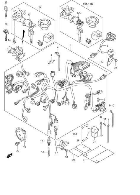 Suzuki M50 Parts by M50 Wiring Harness Diagram 26 Wiring Diagram Images