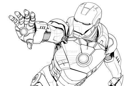 iron man mark 5 coloring pages iron man mark vii lineart by tau omicron mu on deviantart