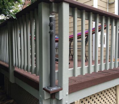 Mount a Deck Umbrella to Save Space   Home Automation Guru