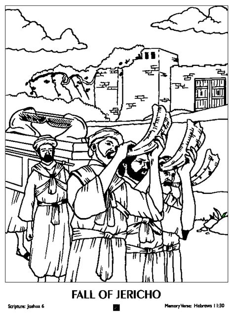 coloring pages for joshua and the battle of jericho battle of jericho free coloring pages on coloring pages