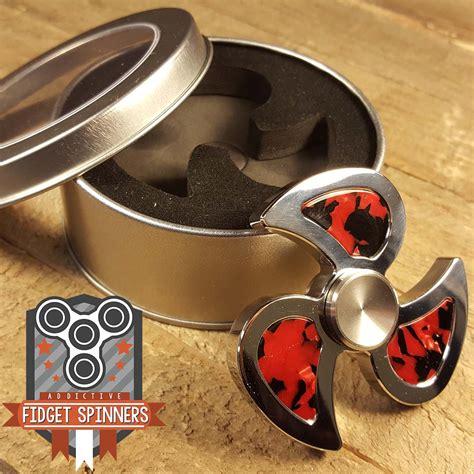 Fitged Spinner Metal Steel stainless steel swirl fidget spinner