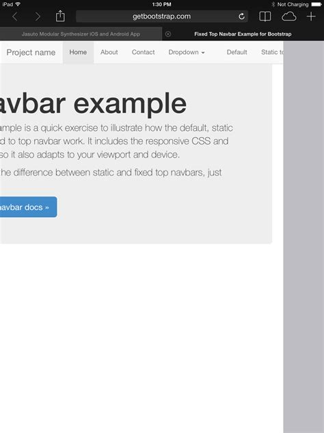 bootstrap layout scroll bootstrap fixed navbar scroll phpsourcecode net