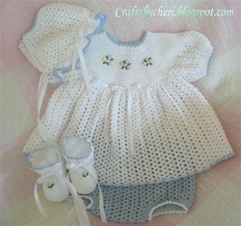 pattern crochet baby dress cheri crochet original baby pattern newborn size dress